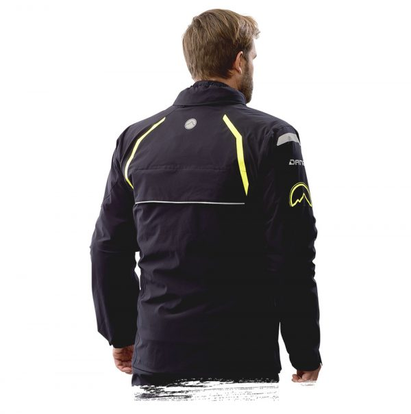 Adventure Bike Shop Dane Byge Black Rain Jacket back