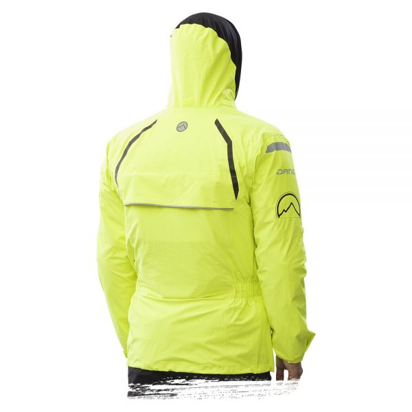 Adventure Bike Shop Dane Byge Yellow Rain Jacket back