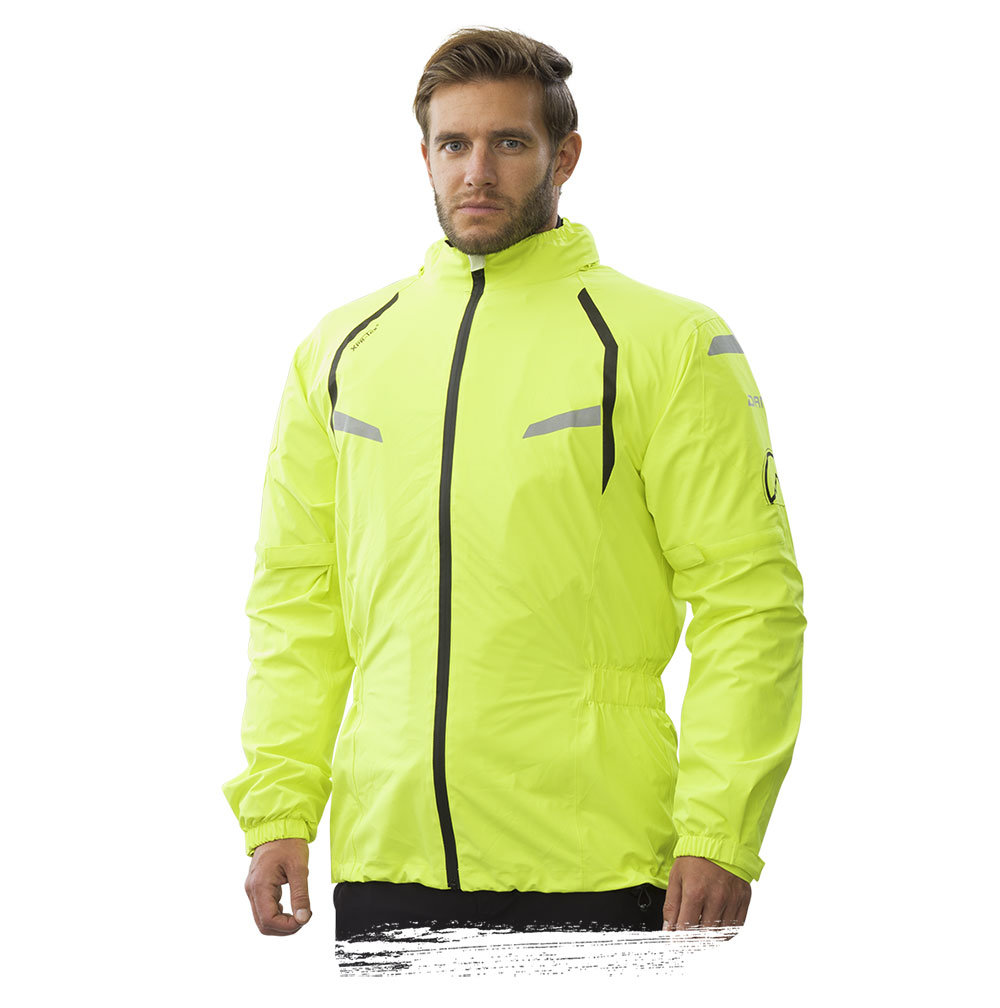 Adventure Bike Shop Dane Byge Yellow Rain Jacket