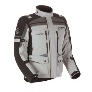 Adventure Bike Shop Dane Sealand Light Grey Adventure Motorbike Jacket front