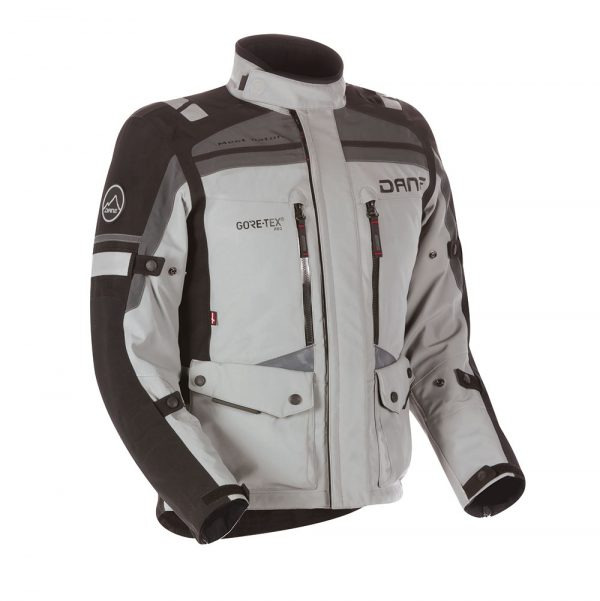Adventure Bike Shop Dane Sealand Light Grey Adventure Motorbike Jacket front